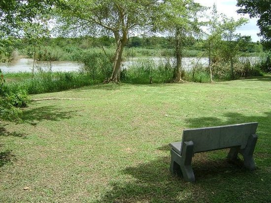 Orchards Farm Cottages : Riverfront benches