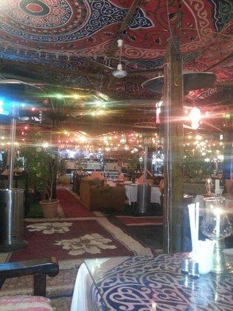 Ali Baba Restaurant: Inside the restaurant - we loved the decor