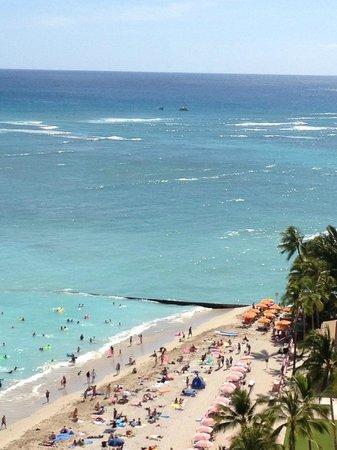 Outrigger Waikiki Beach Resort : オーシャンビューの部屋から