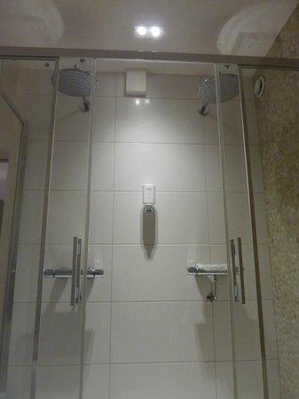 Hotel du Commerce: Douche met dubbele regenkop