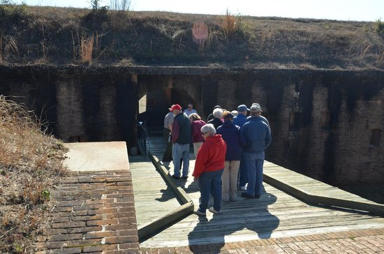 Fort Barrancas: Entering the fort by the sally port