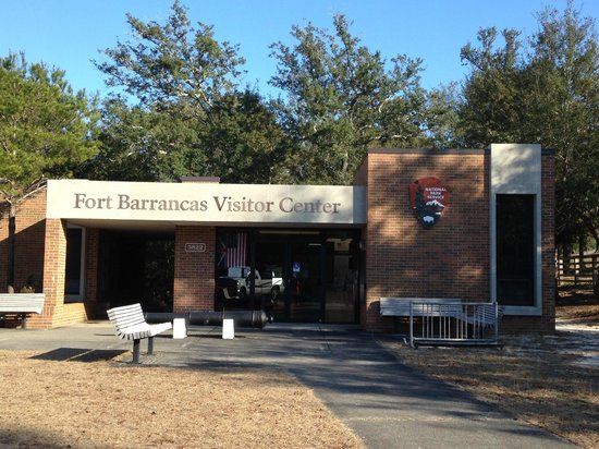 The visitors center at Fort Barrancas
