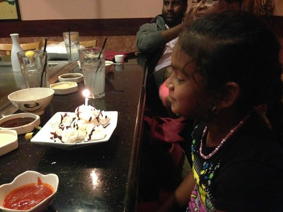 Saito Japanese Steakhouse : Happy Birthday
