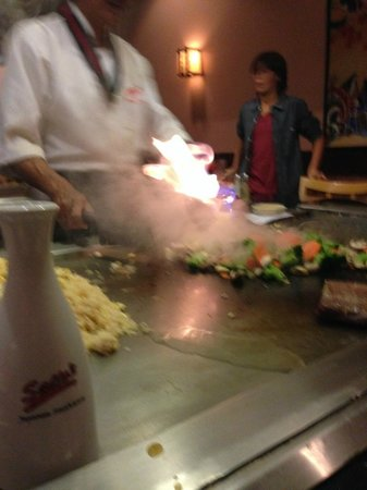 Saito Japanese Steakhouse : FIRE!