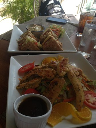 Catcha Falling Star : Chicken Breast Salad and Club Sandwich at Ivan's