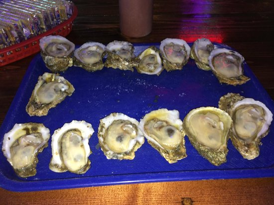 Shuckums Oyster Pub and Grill: Dozen on the half shell (sometimes you get more)...
