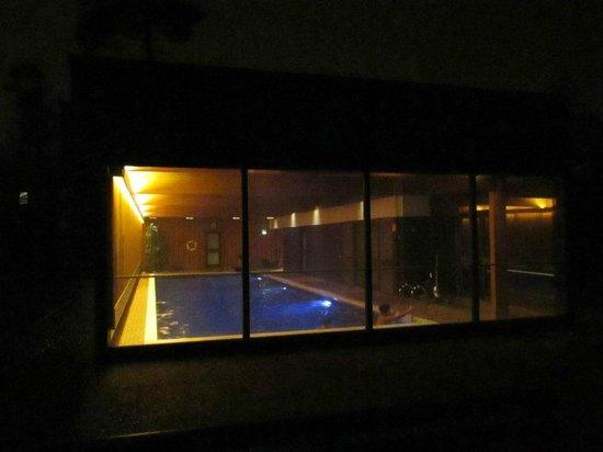 Hotel Hanasaari: Вид на бассейн снаружи