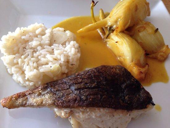 Le Jamy : Dos de cabillaud, riz infusé au vin blanc, fenouil braisé