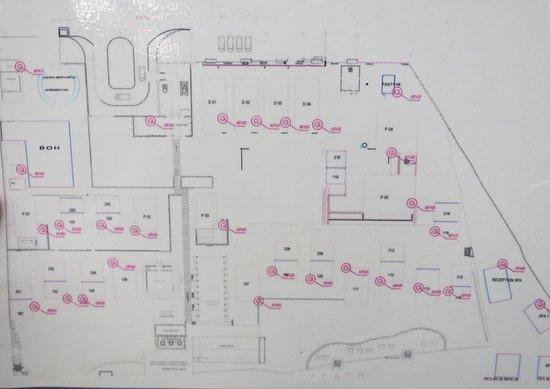 Jeeva Klui Resort: Resort map