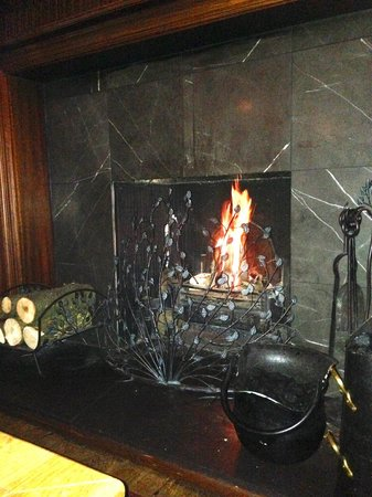 The Bear's Paw : the open fire Snug area