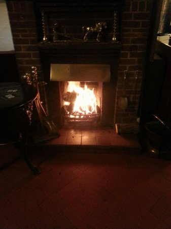 The Plough: Stunning log fire