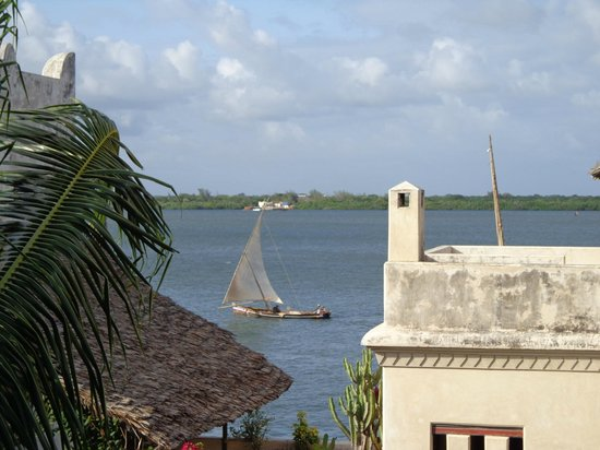 Lamu House Hotel: View from one of our outdoor terraces