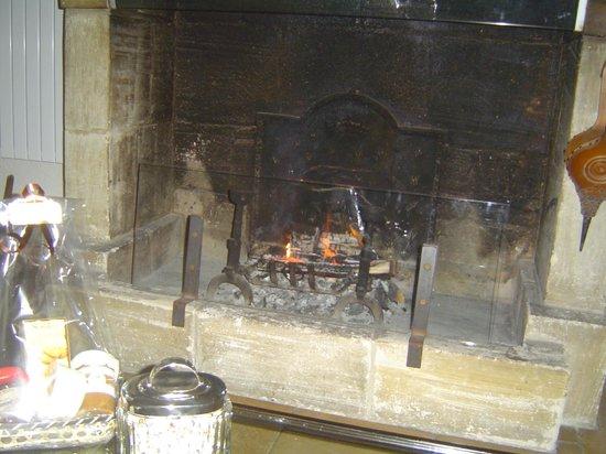 Les Manoirs de Tourgéville : fireplace