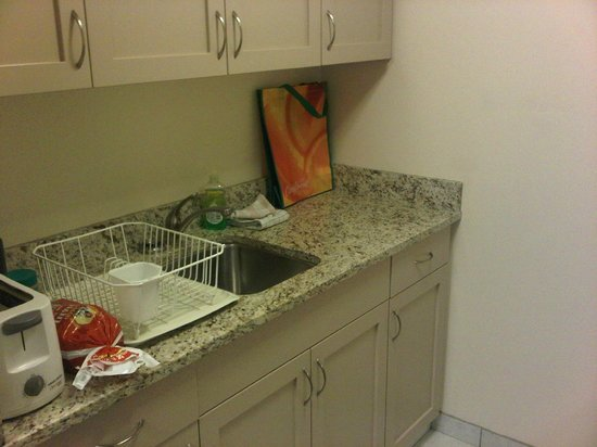 Campus Tower Suite Hotel: Kitchenette