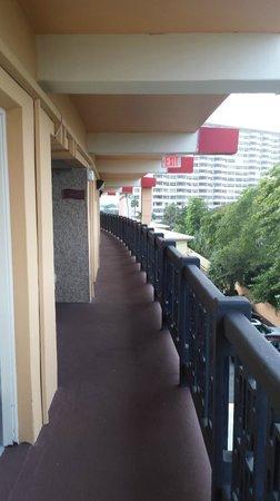 Royal Beach Palace: Corredor de acesso aos quartos - quarto andar