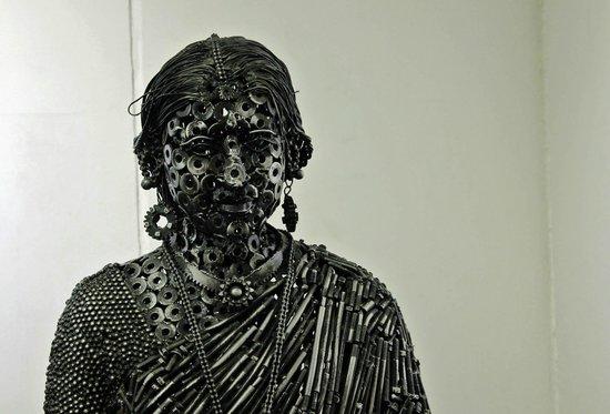 Rangoli Metro Art Center: RMAC - offers local artists an op to display their work, here junk metal sculpture