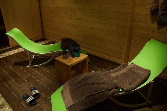 Chambres et Table d'Hotes Le Chalet du Seu : le sauna