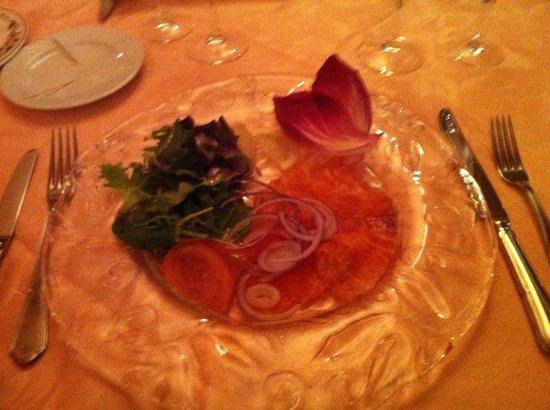 Restaurant la Clef des Champs : saumon fumé maison