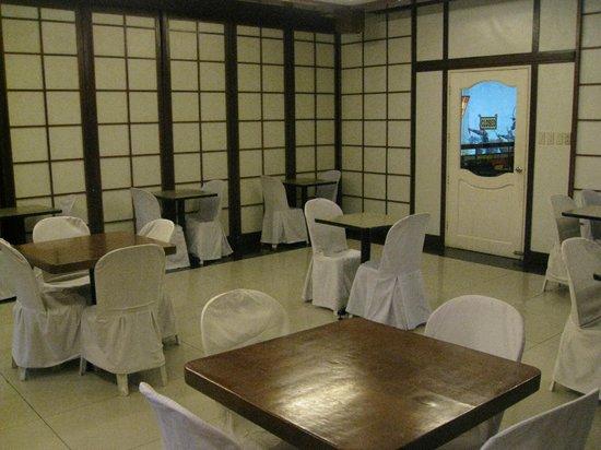 Shogun Suite Hotel : The second floor Breakfast Room.