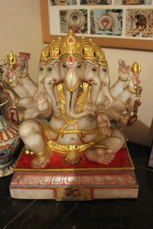 Surayanarayana Temple: inside the museum, a mutli-headed Ganesha idol
