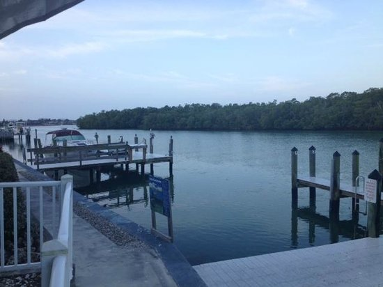 The Boat House Motel: Collier Bay (looking South) from patio outside condo