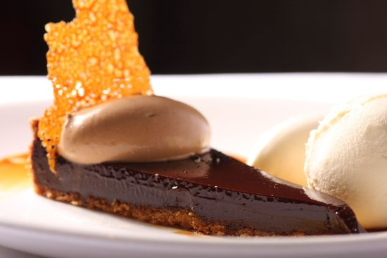 Chocolate tart at the Anglers Rest