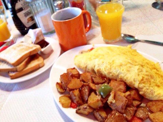 Breakfast in America : Veggie omelet