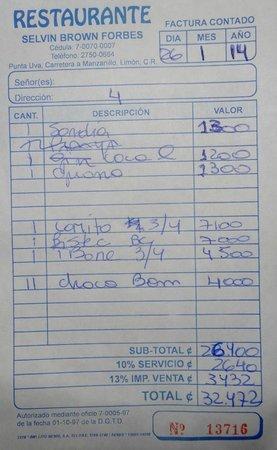 Selvin's: La cuenta en enero 2014