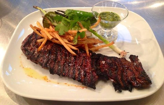 Vaudeville: Grilled Angus Skirt Steak - Saturday Evening Bistro Menu