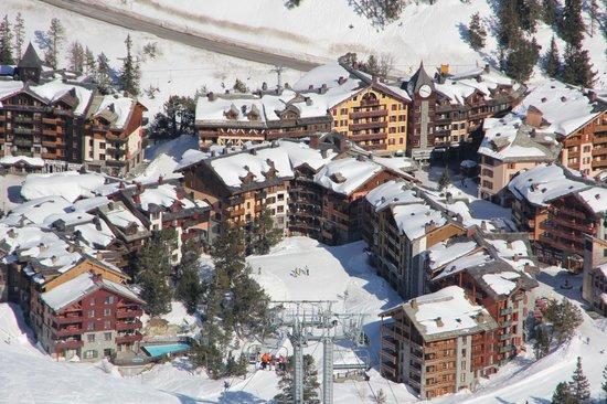 Radisson Blu Resort, Arc 1950: Вся деревня- один отель (из нескольких зданий)