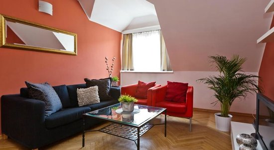 Lovely Prague Apartments: Living room
