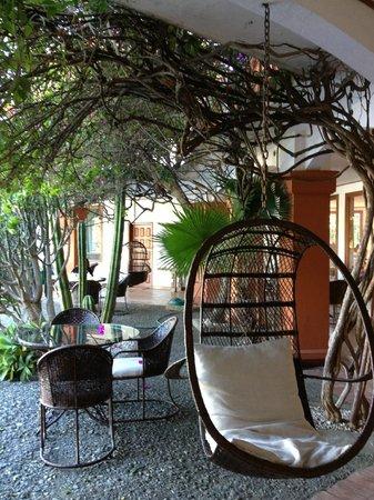 Hotel Posada Canal Grande : il patio