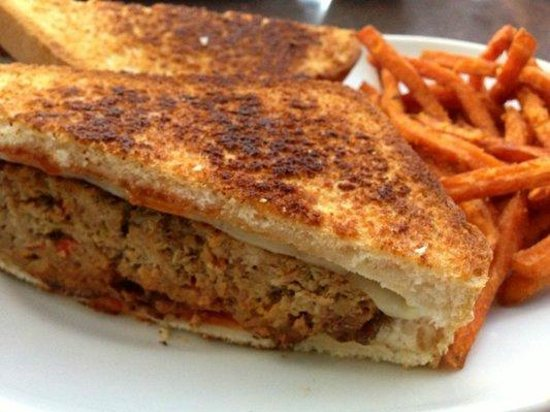 Ram Restaurant and Brewery: Bourbon BBQ Meatloaf Sandwich