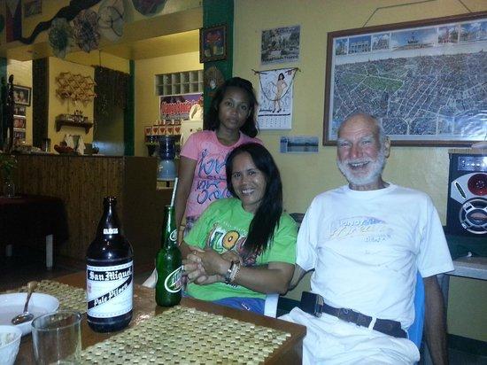 Olango Bonita Inn : Sally ( Standing ) Mama Jenny, and Erick