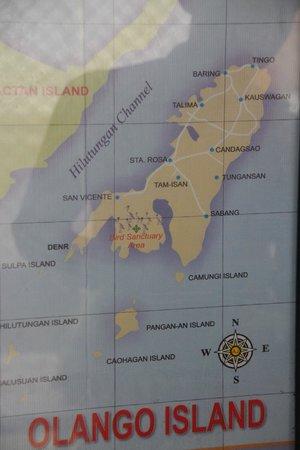 Olango Bonita Inn: Map of Olongo Island