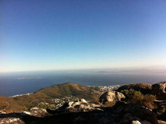 Hike Table Mountain: Views on route on the climb towards the top of Table Mountain