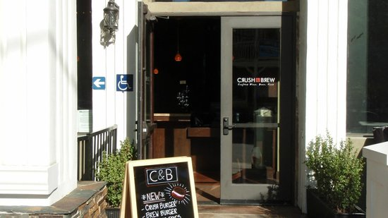 Entrance to Crush & Brew