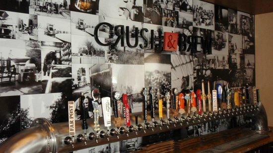 Crush & Brew: The bar