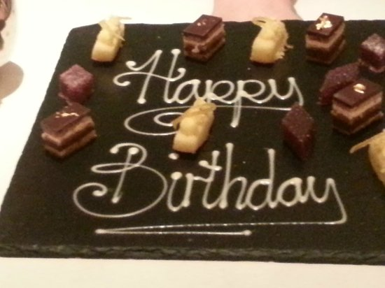 Roux at The Landau: petit fours for the birthday girl