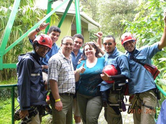 Sky Adventures - Arenal Park: Our amazing zip-lining crew.