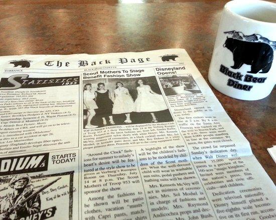 Black Bear Diner : Menu
