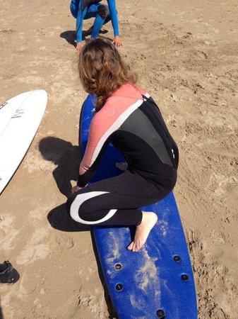 Cascais Surf School & Surf Camp: Me, having my first class