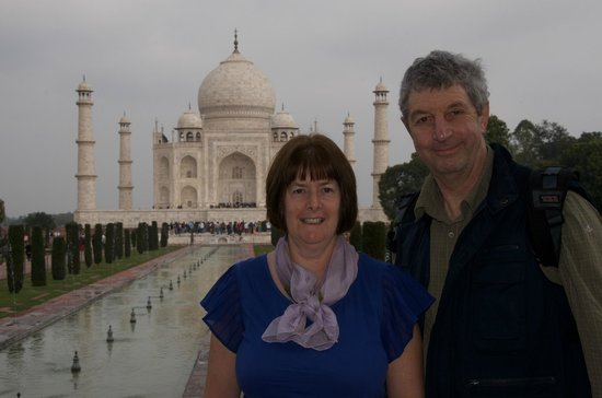 Agra Day Tour Packages: Ruth and Robert taken by Imran
