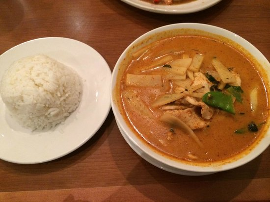 "Red Curry Thai Resturant: Signature ""red curry"" with Chicken"