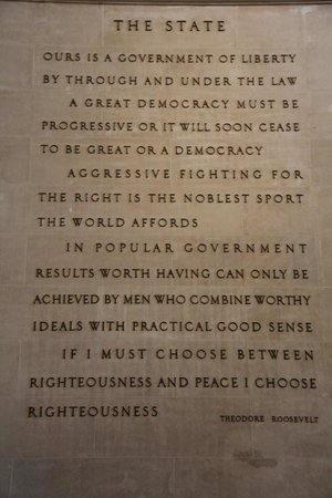 American Museum of Natural History : Theodore Roosevelt quote