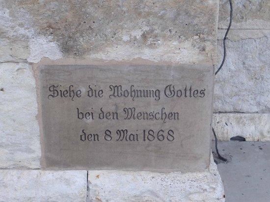 St Joseph Catholic Church : Writing on the exterior