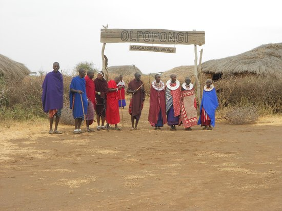 Olpopongi - Maasai Cultural Village & Museum: Welcome greeting upon arrival