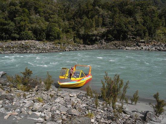 Waiatoto River Safari: jetboot