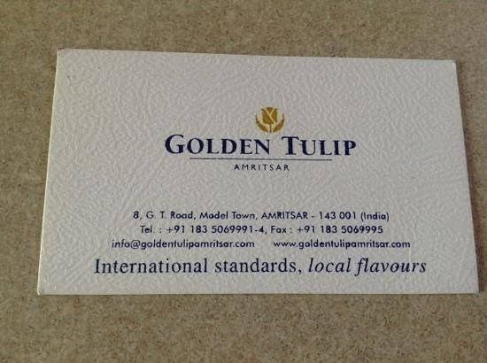 Business card picture of golden tulip amritsar amritsar tripadvisor golden tulip amritsar business card colourmoves