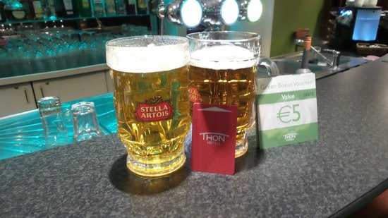 Thon Hotel Brussels Airport : 5 Euro voucher being used